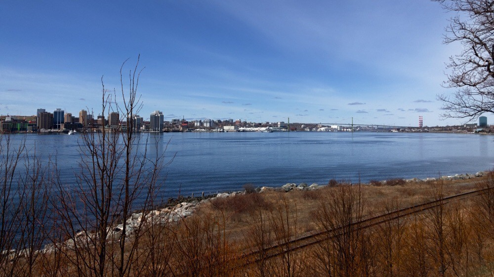 Halifax harbour and sky.
