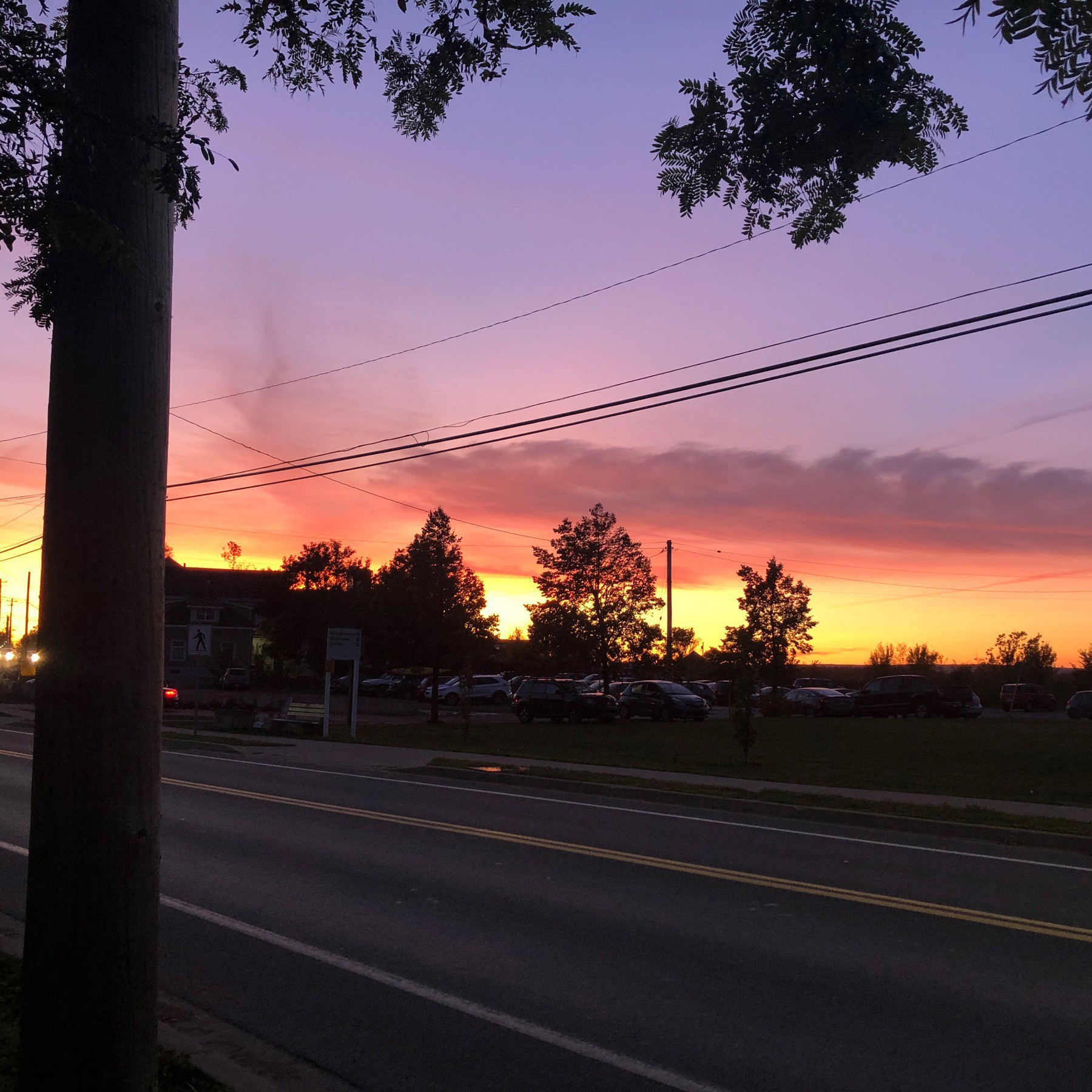 Sunset in Wolfville