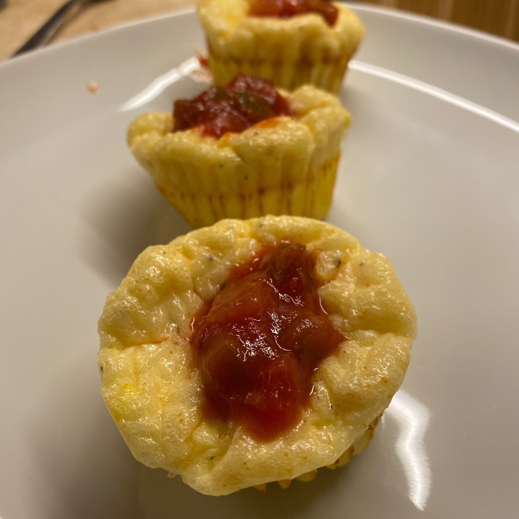 Muffin cup frittatas