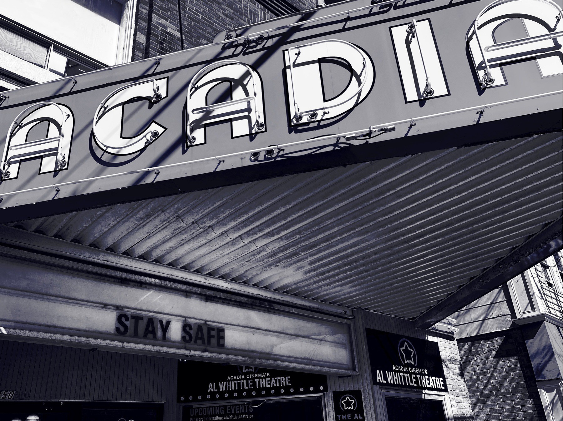 Theatre marquee.