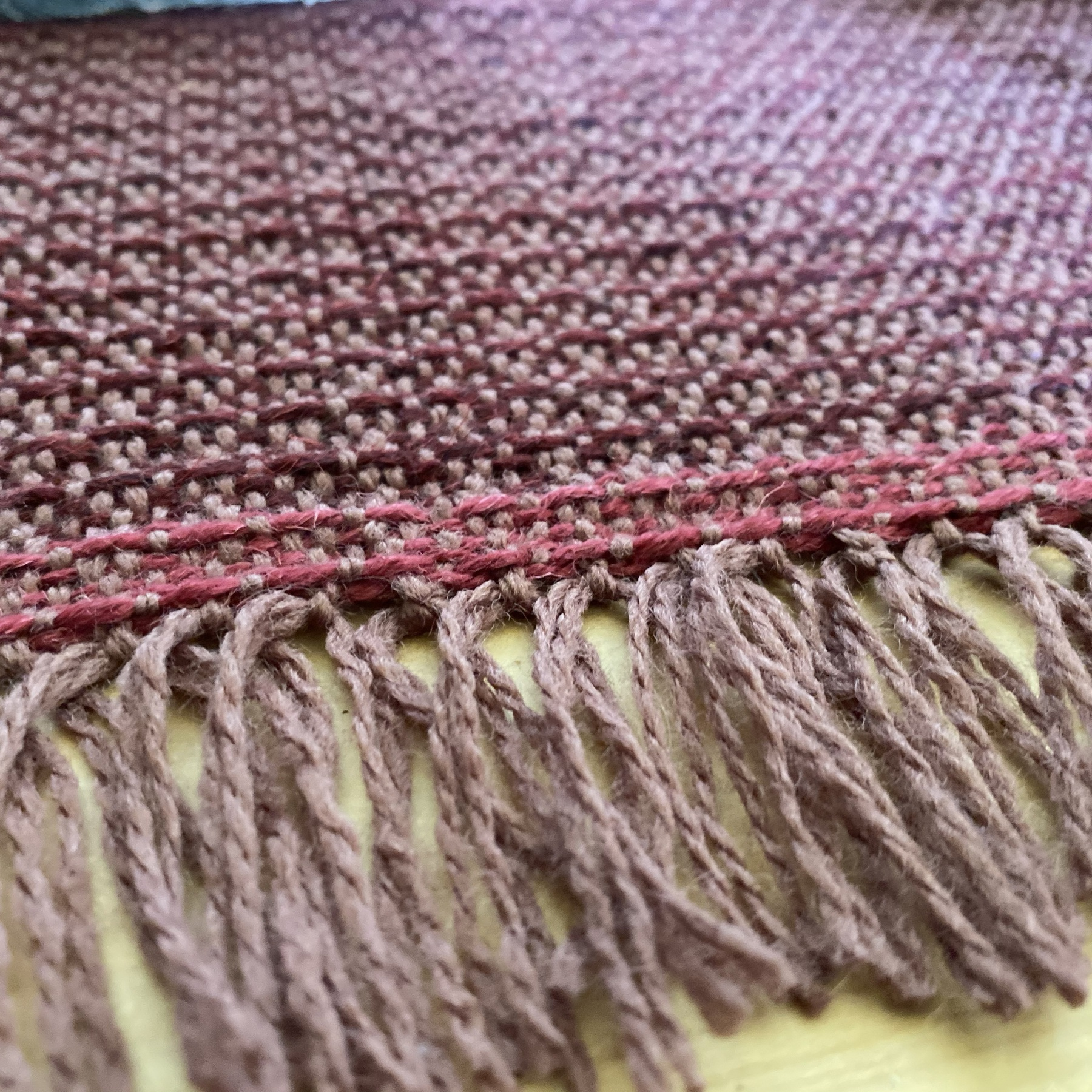close up of weaving