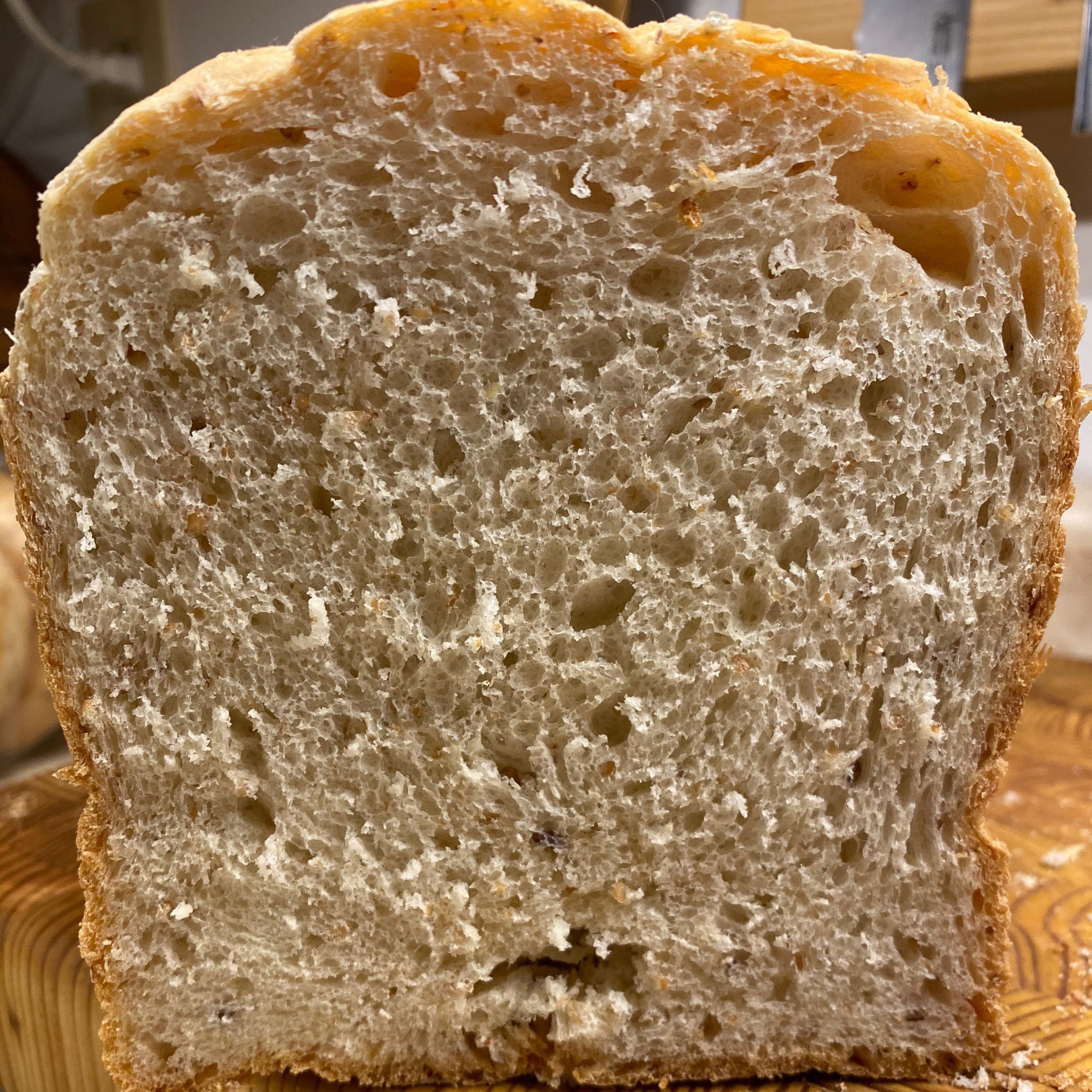 Cross section of bread.